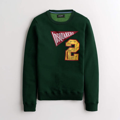 "Dsquared2 PREMIUM FLEECE SWEATSHIRT ""olive green"""