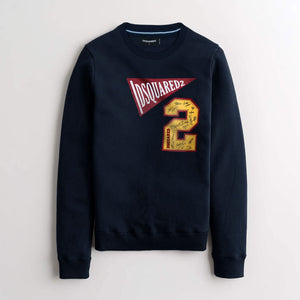 "Dsquared2 PREMIUM FLEECE SWEATSHIRT ""NAVY"""