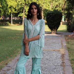 HIMAD EGYPTIAN TURQUOISE WOMEN SHIRT