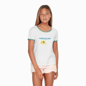"WOMEN WINDSURF T SHIRT ""WHITE"""