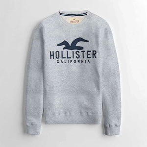 "HOLISTER PREMIUM EMBROIDERED SWEATSHIRT ""GREY"""