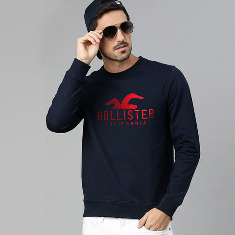 "HOLISTER PREMIUM EMBROIDERED SWEATSHIRT ""NAVY"""