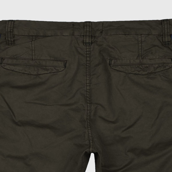"ANGELO LITRICO SIDE STRIPS COTTON CHINO SHORTS ""SKU-1001-OLIVE"""