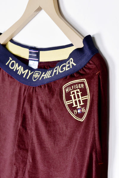 "TOMMY HILFIGER COTTON LOUNGE TROUSER ""MAROON"""