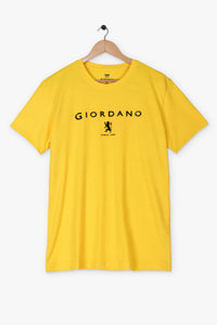 "GIORDANO HIGH DENSITY LOGO T SHIRT ""YELLOW"""