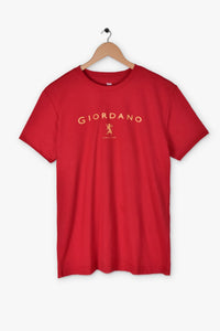 "GIORDANO HIGH DENSITY LOGO T SHIRT ""RED"""