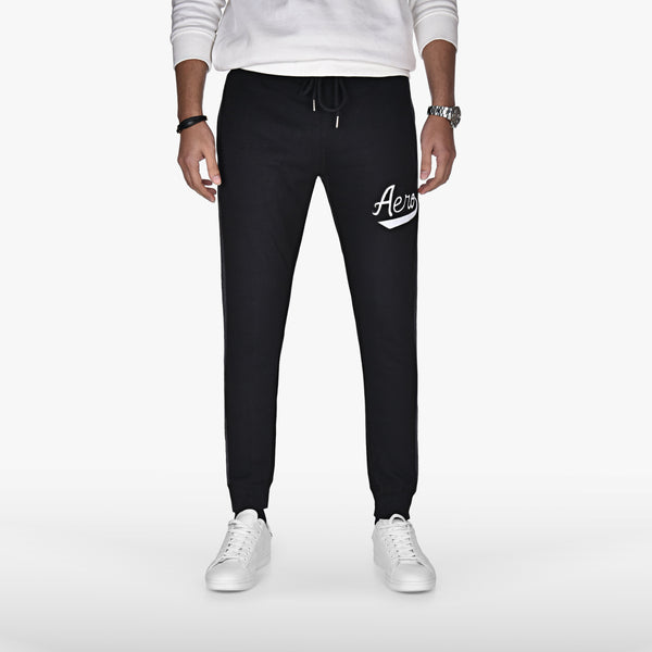 "AEROPOSTALE EMBROIDERED TROUSER ""BLACK"""