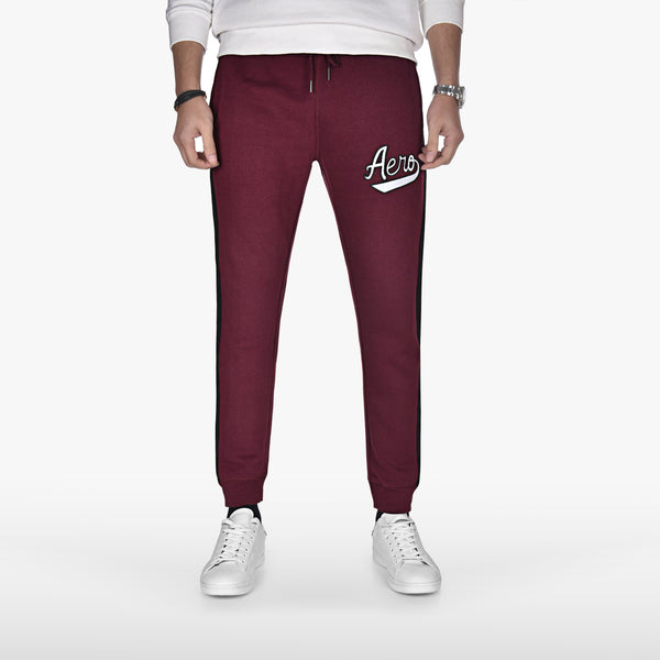 "AEROPOSTALE EMBROIDERED TROUSER ""MAROON"""