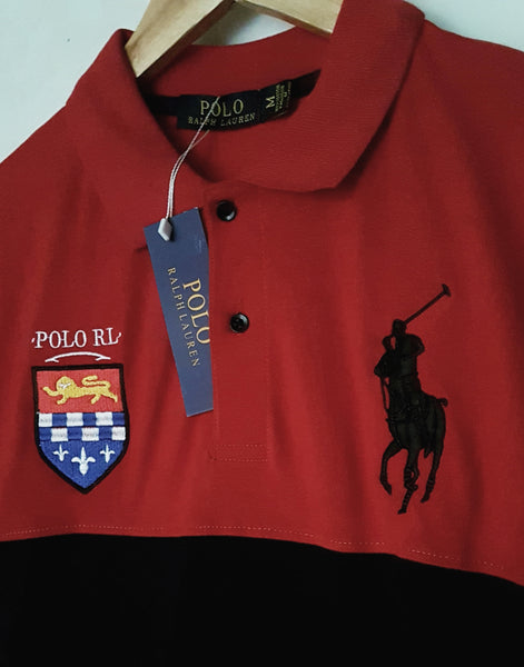 "POLO RALPH LAUREN EMBROIDERED SLIM FIT PANEL POLO ""SKU-1003RBW"""