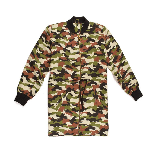 WOMEN ARMY CAMOUFLAGE BOMBER JACKET SKU-1013