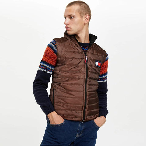 "TOMMY HILFIGER MEN EXCLUSIVE SLEEVELESS QUILTED GILET ""BROWN"""