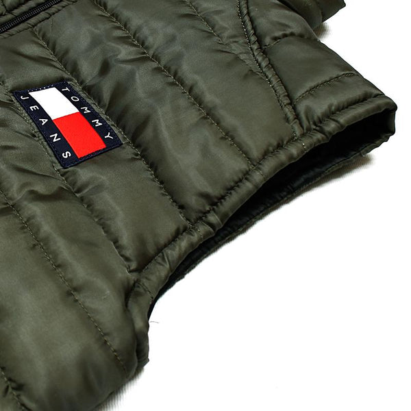 "TOMMY HILFIGER MEN EXCLUSIVE SLEEVELESS QUILTED GILET ""OLIVE"""