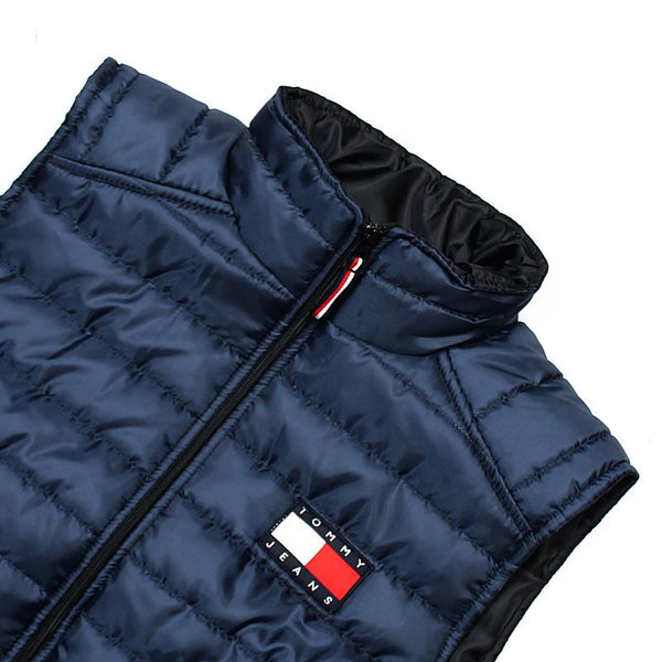 "TOMMY HILFIGER MEN EXCLUSIVE SLEEVELESS QUILTED GILET ""NAVY"""