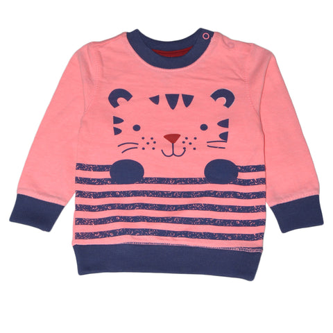 BABY CLUB CAT FACE SWEAT SHIRT