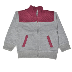"BABY CLUB ZIPPER JACKET ""GREY"""