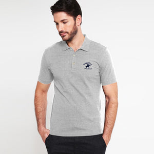 "BEVERLY HILLS EMBROIDERED LOGO POLO SHIRT ""GREY"""