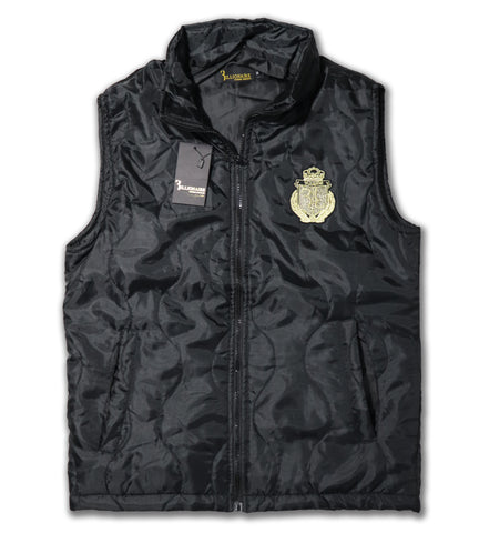 "BILLIONAIRE ""BLACK"" LIGHT WEIGHT SLEEVELESS EMBROIDERED JACKET"