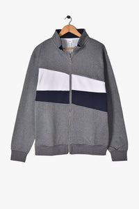 "CELIO COLOR BLOCK TRACK JACKET ""GREY MARL"""
