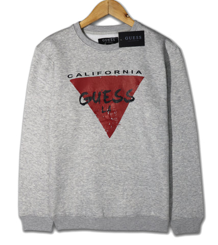 "GUESS PREMIUM FLEECE SWEATSHIRT ""GREY"""