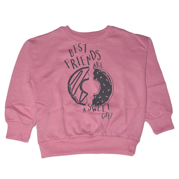 "LEFTIES GIRLS PRINTED SWEATSHIRT ""PINK"""