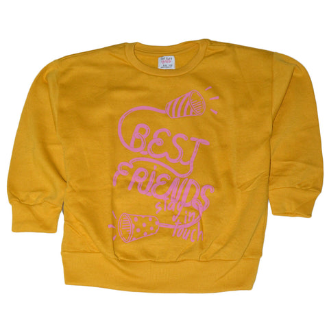 "LEFTIES GIRLS PRINTED SWEATSHIRT ""YELLOW"""