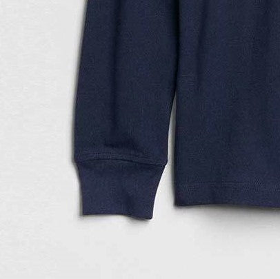 GAP BOYS SUMMER LONG SLEEVE PIQUE POLO SHIRT (NAVY)