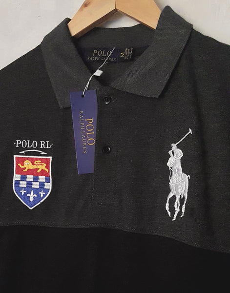 "POLO RALPH LAUREN EMBROIDERED SLIM FIT PANEL POLO ""SKU-1001GBBL"""