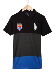 "POLO RALPH LAUREN EMBROIDERED SLIM FIT PANEL POLO ""SKU-1004BGBL"""