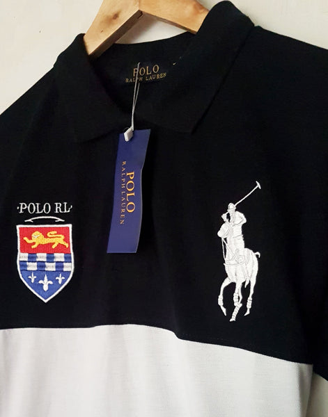"POLO RALPH LAUREN EMBROIDERED SLIM FIT PANEL POLO ""SKU-1002BWR"""