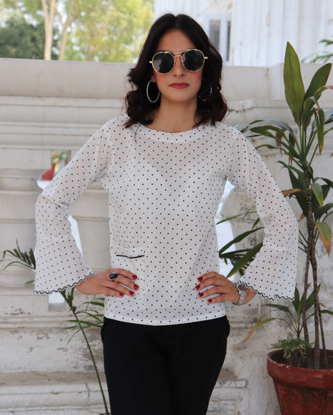 HIMAD WOMEN POLKA PLAY TOP