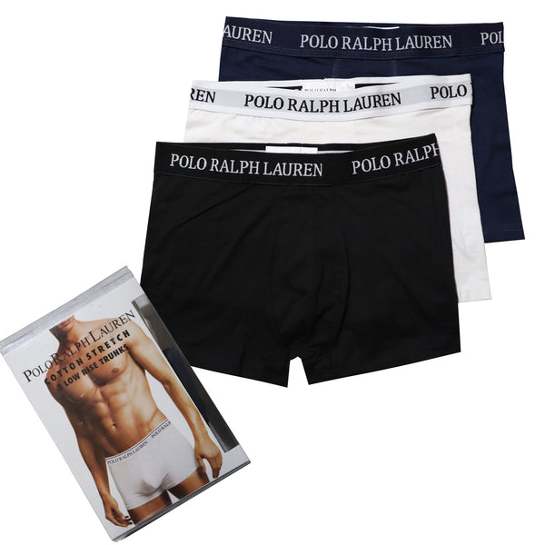 POLO RALPH LAUREN PACK OF 3 STRETCH COTTON BOXER BRIEFS