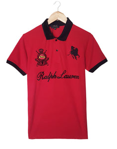 "POLO RALPH LAUREN EMBROIDERED CROWN POLO ""RED"""