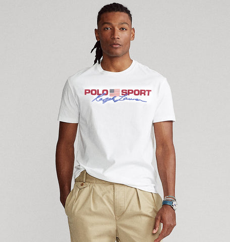 "POLO RALPH LAUREN CLASSIC FIT POLO SPORT T SHIRT ""WHITE"""
