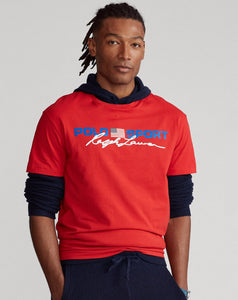 "POLO RALPH LAUREN CLASSIC FIT POLO SPORT T SHIRT ""RED"""