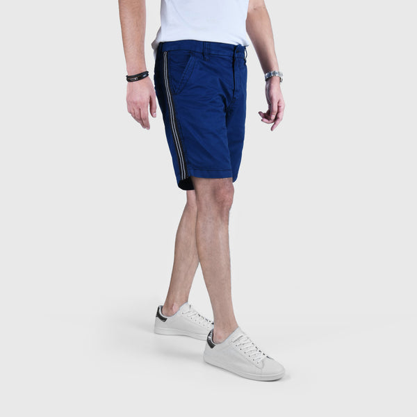 "ANGELO LITRICO SIDE STRIPS COTTON CHINO SHORTS ""SKU-1001-ROYAL BLUE"""