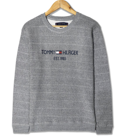 "TOMMY HILFIGER TEXTURED FLEECE SWEATSHIRT ""GREY"""