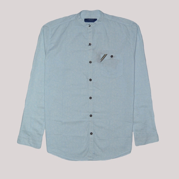 Zara Man Premium Slim Fit Sky Blue Casual Shirt For Men