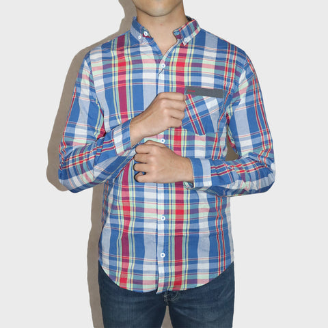 ZARA MAN PREMIUM SLIM FIT  COLOR FULL CHECK SHIRT