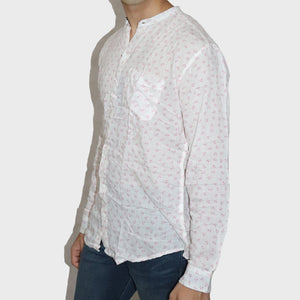 ZARA MAN PREMIUM SLIM FIT WHITE PRINTED SHIRT