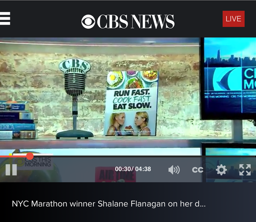 Run Fast. Eat Slow. on CBS This Morning