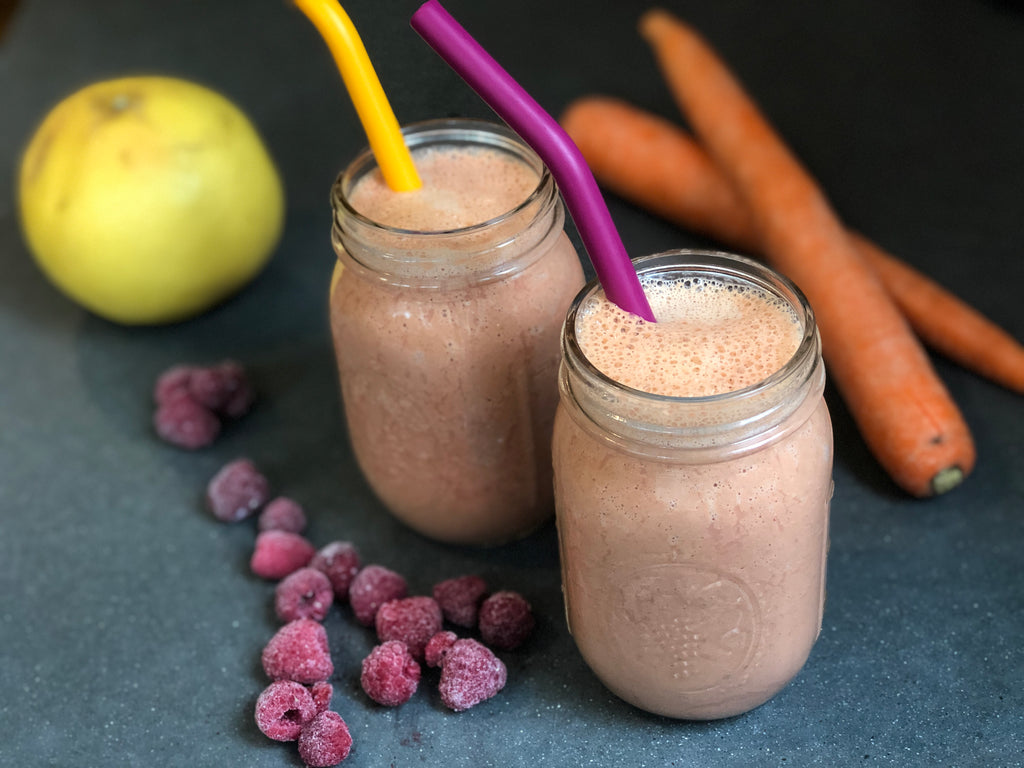 Creamy Dreamy Raspberry-Hemp Smoothie