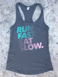 Run Fast Eat Slow Logo Tank