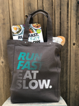 Run Fast Eat Slow Canvas Tote Bag