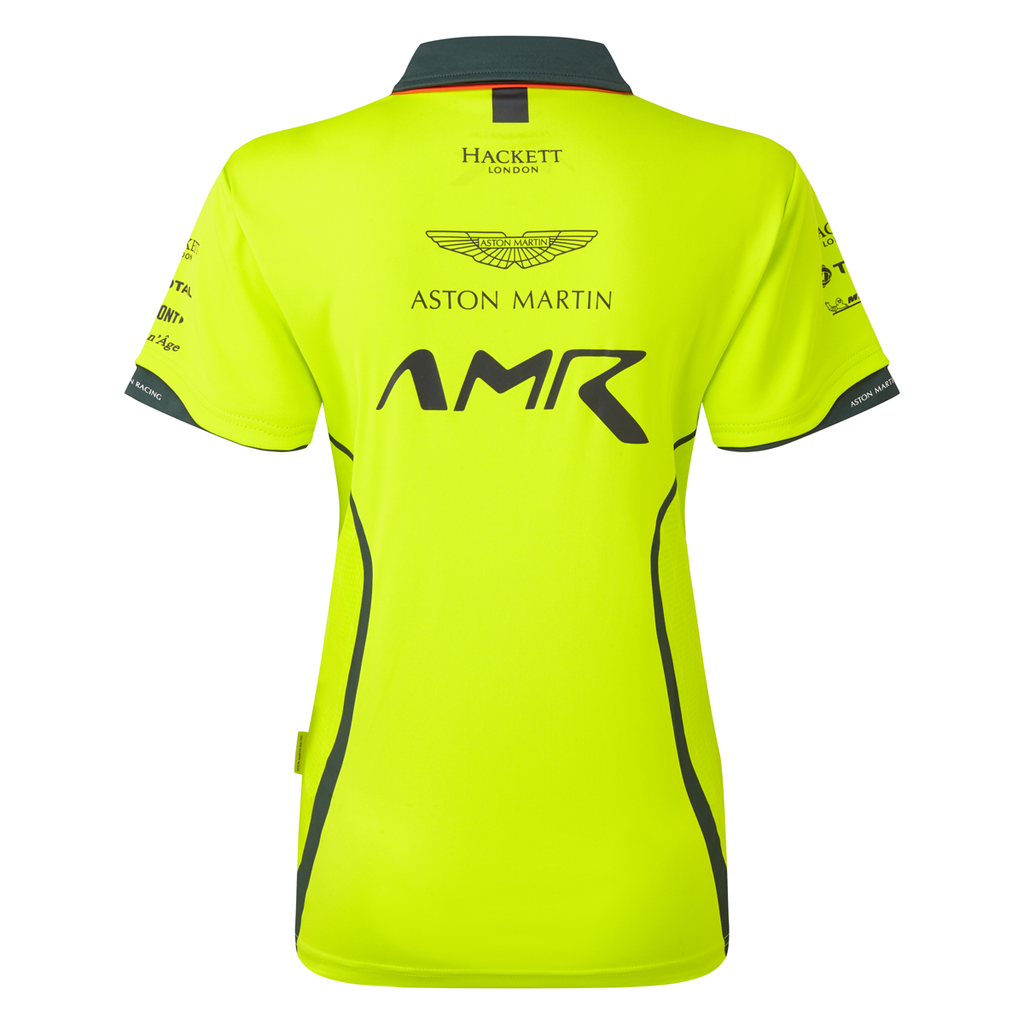AMR Women's Team Polo Shirt Lime Green - Pit-Lane Motorsport