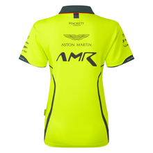 Load image into Gallery viewer, AMR Women's Team Polo Shirt Lime Green - Pit-Lane Motorsport