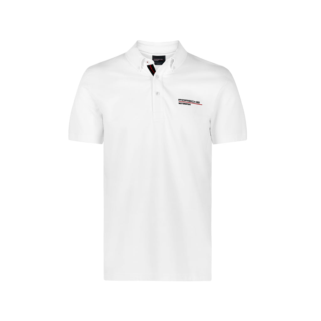 Porsche Motorsport Official Team Merchandise Polo Shirt - White - 2019/20 - Pit-Lane Motorsport