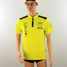 Load image into Gallery viewer, Used Aston Martin Racing AMR Polo Shirt Lime Green late 2018 - Pit-Lane Motorsport