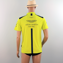 Load image into Gallery viewer, New Aston Martin Racing AMR Polo Shirt Lime Green late 2018 - Pit-Lane Motorsport