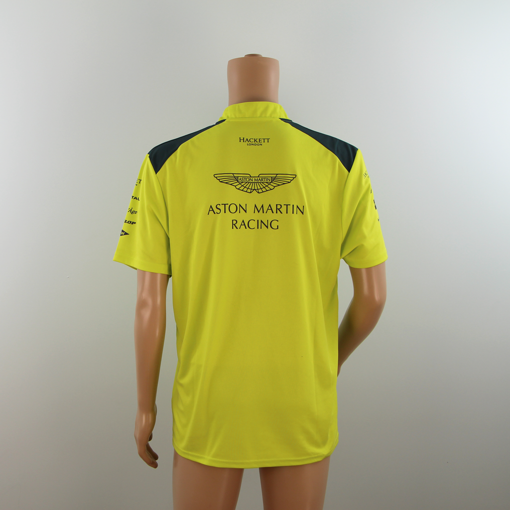 New Aston Martin Racing Official Team Polo Shirt Lime Green-  2015 - Pit-Lane Motorsport