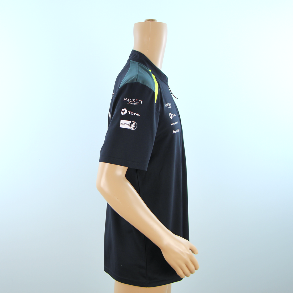 Used Aston Martin Racing Official Team Polo Shirt Dark Blue - 2017 - Pit-Lane Motorsport